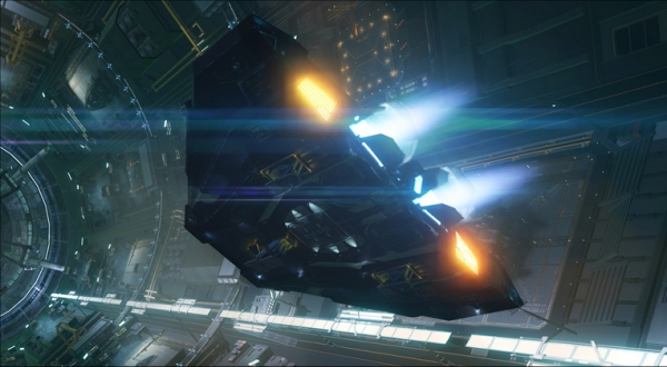 Elite: Dangerous ship (from CinemaBlend.com)