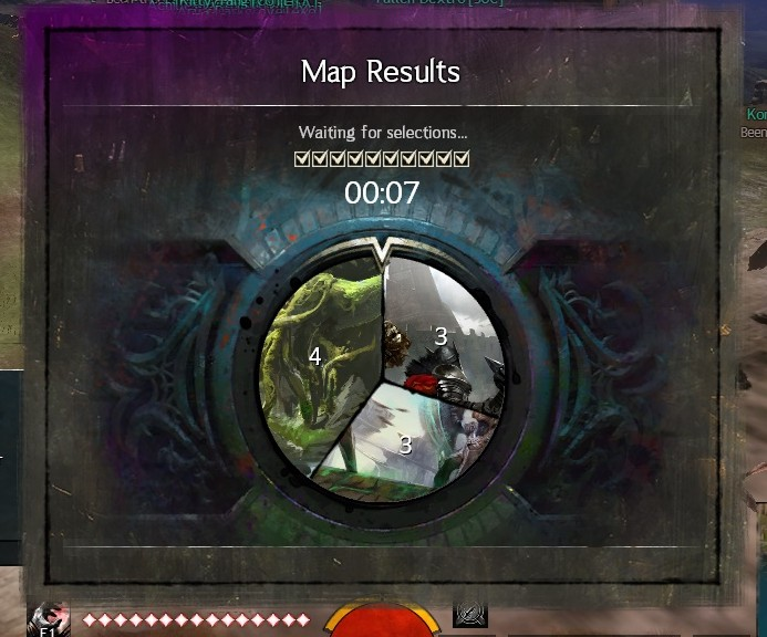 The brilliant map voting process in Guild Wars 2.