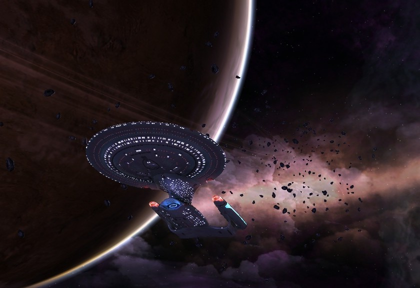 Galaxy-class cruiser from Star Trek Online